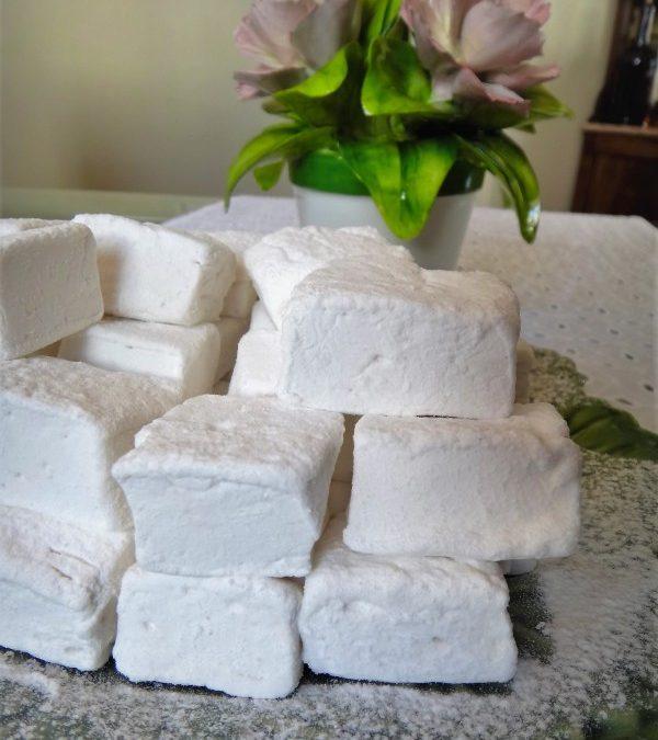Marshmallows em quadrados