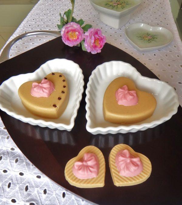 """Fudge de creme de amendoim (corações para o """"Valentine's Day"""")"""
