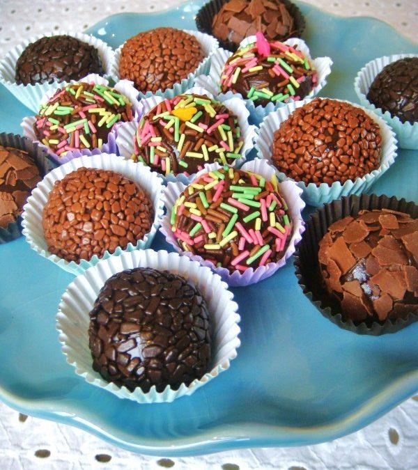 Brigadeiros de chocolate belga