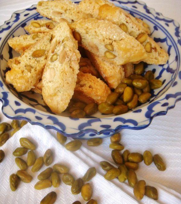 Cantuccini de pistaches e amêndoas